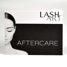 10pcs LashArt Aftercare Card Eyelash Extensions Full Instructions Included