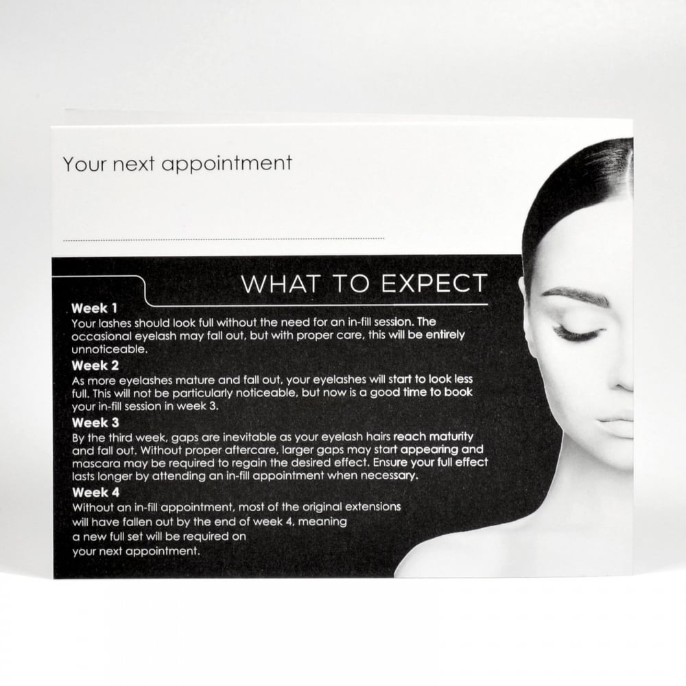 Lashart 10pcs Lashart Aftercare Card Eyelash Extensions Full