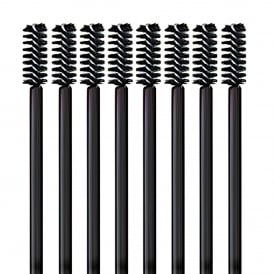 25pcs LashArt Mini Black Eyebrow Brushes Disposable Mascara Wands Applicators Spooler