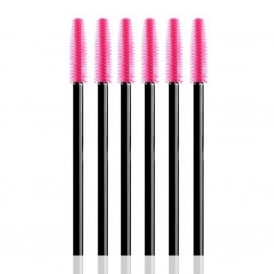 25pcs LashArt Pink Silicone Disposable Mascara Wands Brushes Applicators Spooler