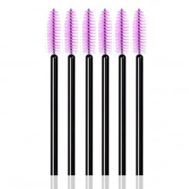 25pcs LashArt Purple Disposable Mascara Wands Brushes Applicators Spooler