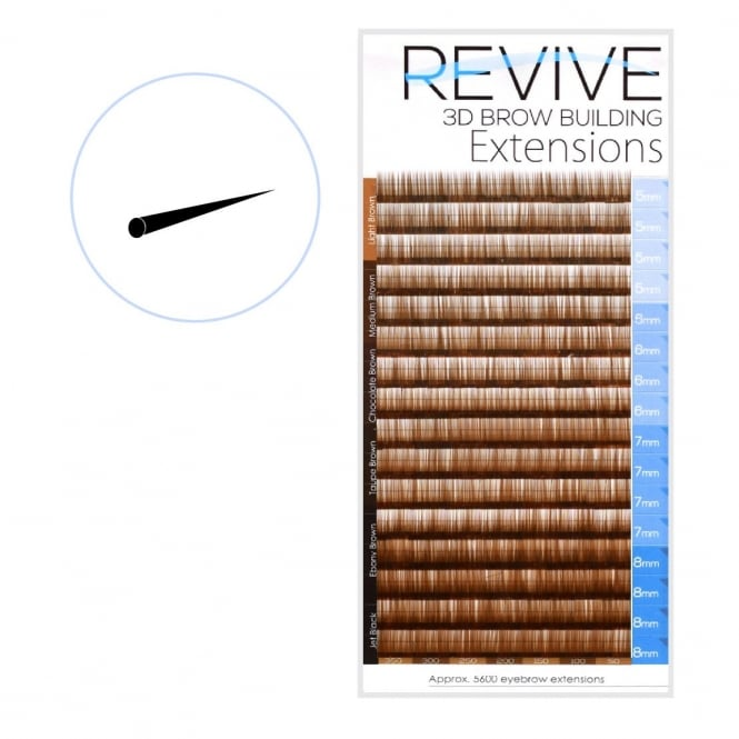Revive Medium Brown 0.10 Brow Building Semi Permanent Individual Eyebrow Extensions