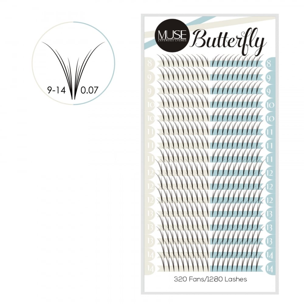 bc511181a87 MUSE Butterfly Pre-Fanned Volume Lashes 0.07 Individual Eyelash Extensions Premade  4D Fans