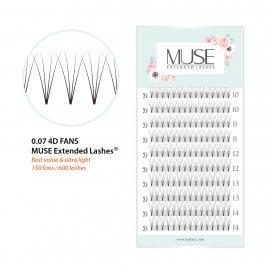 a09ee863250 MUSE Premade Volume Fans 0.07 4D D Curl XD Volume Lash Fans Eyelash  Extensions