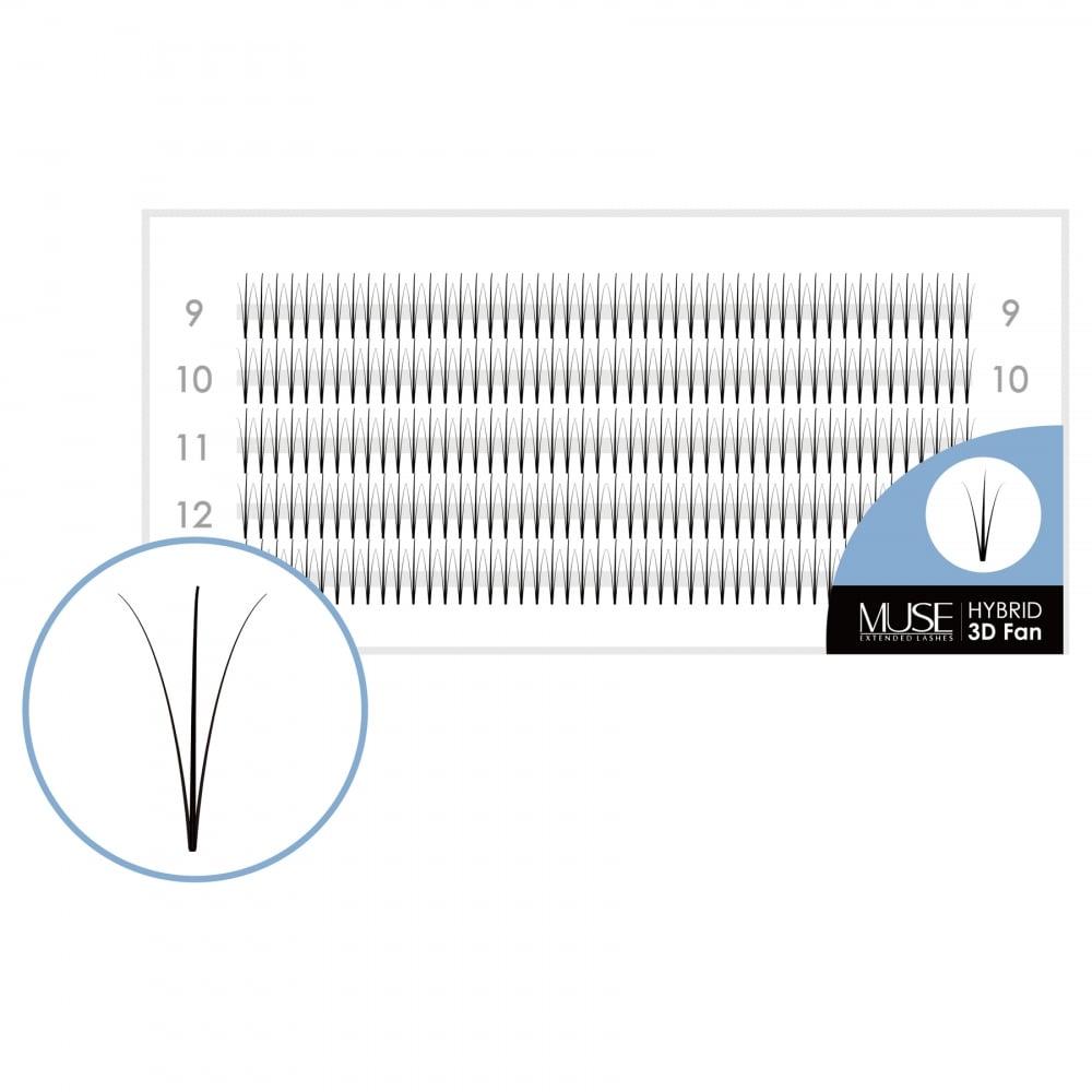 efd7f4a2164 MUSE Premade Volume Fans 3D Hybrid C Curl XD Volume Lash Fans Eyelash  Extensions