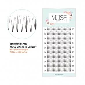 bbac232c5f6 MUSE Premade Volume Fans 3D Hybrid D Curl XD Volume Lash Fans Eyelash  Extensions