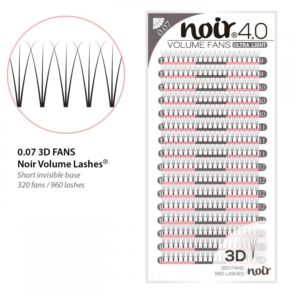df770a60c74 Noir Volume Lashes 0.07 3D Premade Fans Professional Eyelash Extensions