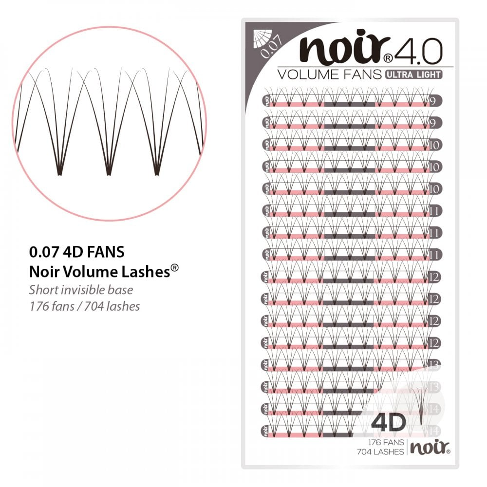 a4457eafbe9 Noir Volume Lashes 0.07 4D Premade Fans Professional Eyelash Extensions