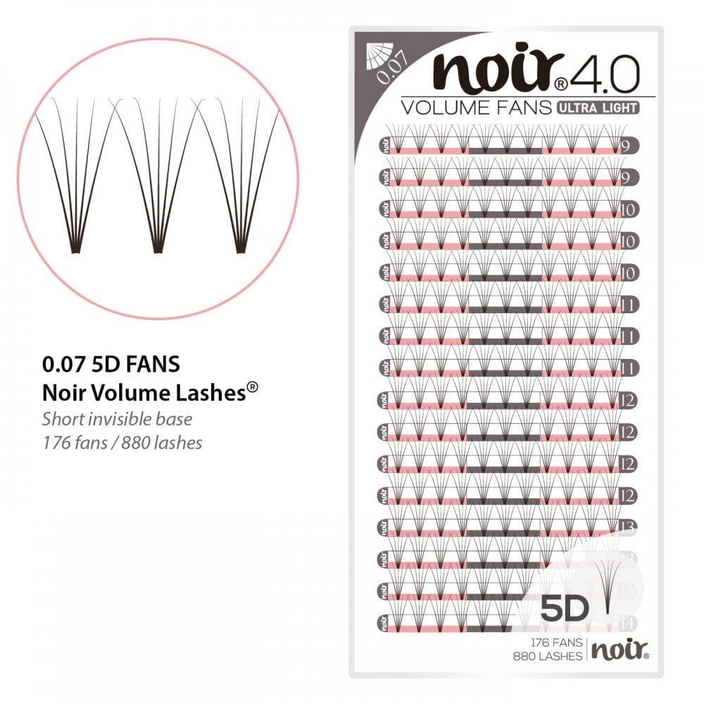 846d517758b Noir Volume Lashes 0.07 5D Premade Fans Professional Eyelash Extensions