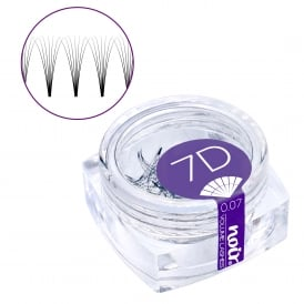 Noir Volume Lashes 0.07 7D Premade Fans Professional Eyelash Extensions loose in jar
