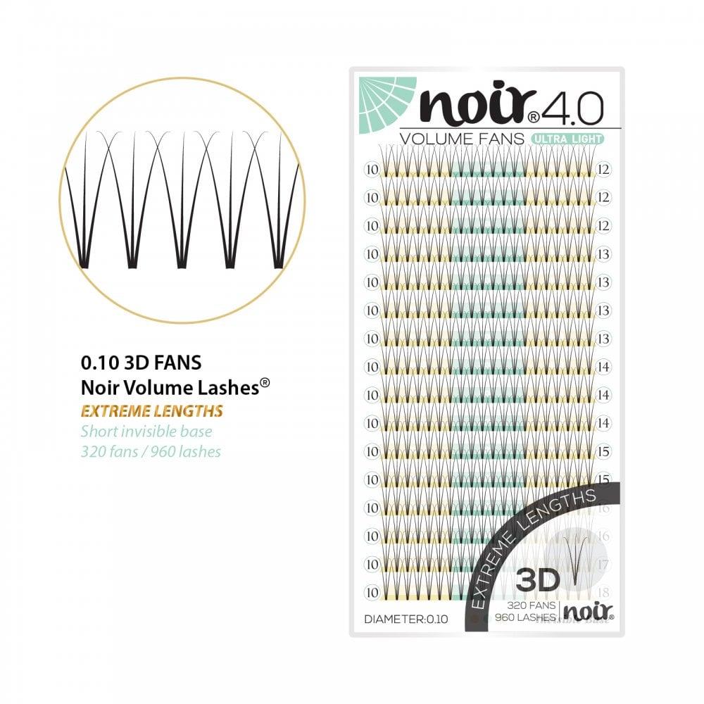 ec89586f173 Noir Volume Lashes 0.10 3D Extra Lengths Mix Tray 12mm - 18mm D Curl  Premade Fans
