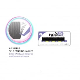 Noir Volume Lashes 4.0 Self Fanning 0.05 Mink Lashes Russia Volume Individual Eyelash Extensions