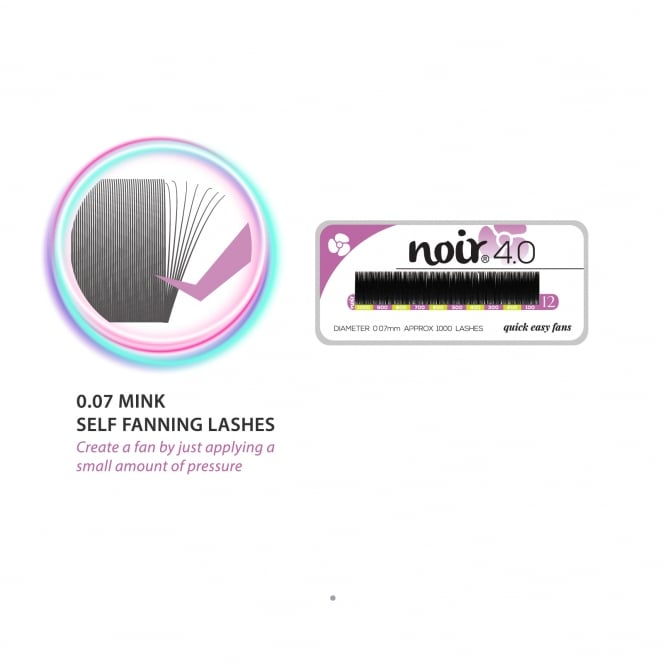 Noir Volume Lashes 4.0 Self Fanning 0.07 Mink Lashes Russia Volume Individual Eyelash Extensions