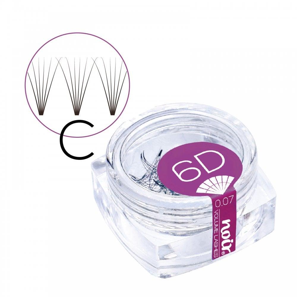 24d45dc669e Noir 0.07 6D C Curl Pre made Russian Volume Fan Lashes Semi Permanent  Individual Eyelashes