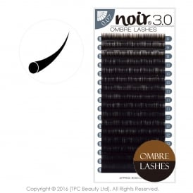 Noir Volume Lashes Ombre Brown 0.07 0.10 Individual Eyelash Extensions