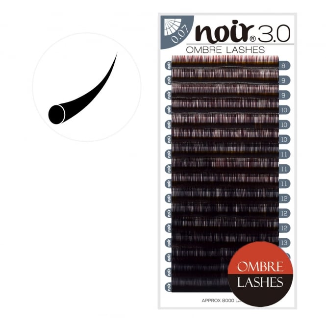 Noir Volume Lashes Ombre Red 0.07 0.10 Individual Eyelash Extensions