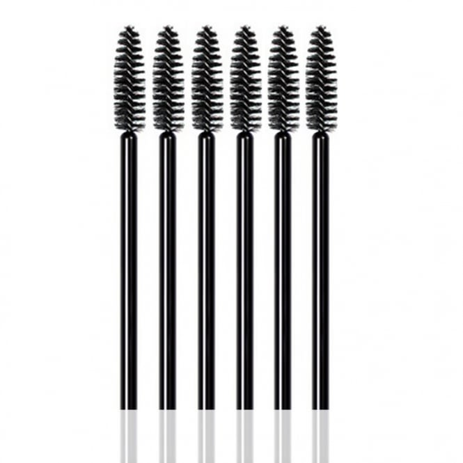 LashArt 25pcs Black Disposable Mascara Wands Brushes Applicators Spooler