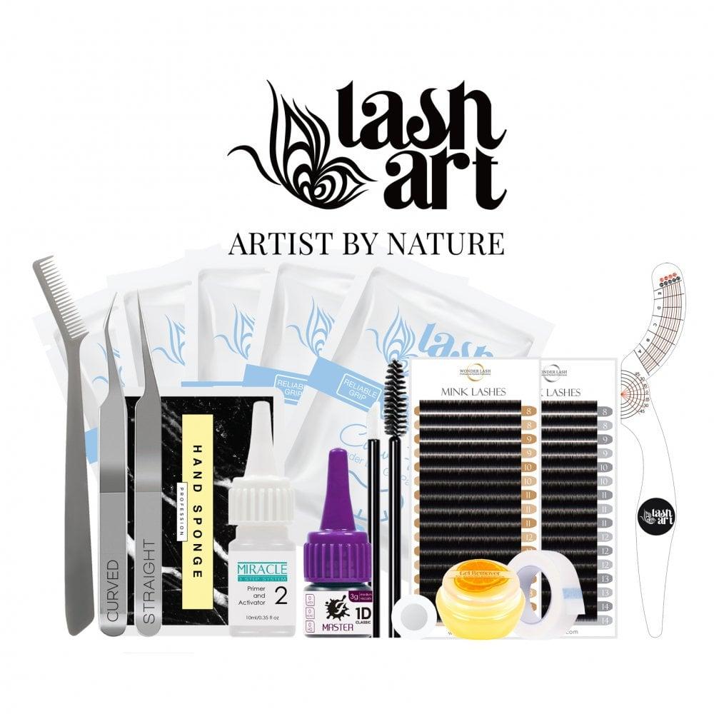 0591ac205a7 LashArt Eyelash Extension Starter Kit Deluxe Box Professional Semi  Permanent Individual Lashes Mink Silk