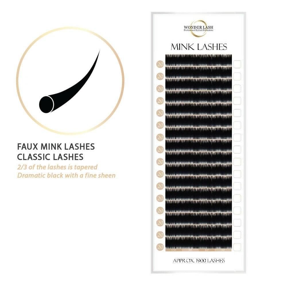 cf1c5895fe8 WonderLash Premium Mink Lashes Professional Semi Permanent Individual  Eyelash Extensions
